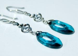 edel: Ohrhänger HELIOS, 925er Silber-Kette indicolit edel Geschenk