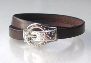 Wickel-Armband ARM-GÜRTEL Leder Mann grau-braun lässig originell Armband - Handarbeit kaufen