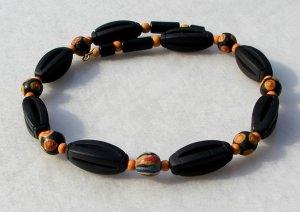 Halskette  AFRIKA SCHWARZ-ORANGE