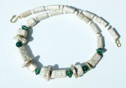 Halskette  MARBLE BEIGE  Keramik