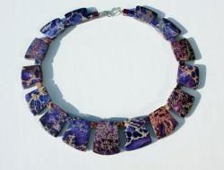 Collier CLEOPATRA Sediment-Jaspis violett