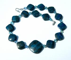 Halskette LAPIS in QUADRATEN mit Swarovski-Elementen elegant
