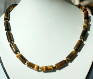 Halskette TIGERAUGE Hämatit elegant - Handarbeit kaufen
