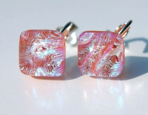 Clips Quadrat JUTTA dichroitisches Glas - Handarbeit kaufen
