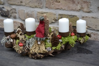 Moneria- Adventsgesteck- Rebholz... Langbart 1-