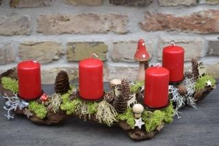 Adventskranz-Adventsgesteck-Rebholz- Wurzel-Rebwurzel-Wurzelgesteck-Berggeflüster