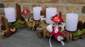 Adventskranz-Adventsgesteck-Rebholz-Fliegenpilze - Handarbeit kaufen