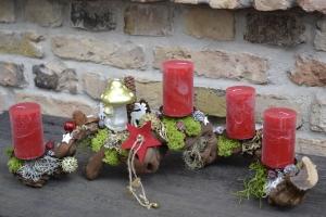 Moneria-Adventskranz-Adventsgesteck-Rebholz-Wurzelgesteck- der Berg ruft- - Handarbeit kaufen