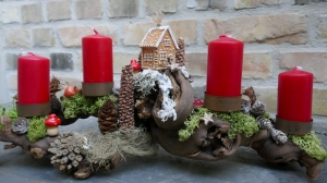 Adventskranz-Adventsgesteck-Rebholz-Wurzel-Rebwurzel-Wurzelgesteck- zur Almhütte-1-
