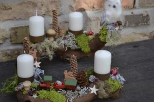 Moneria-Adventsgesteck-Rebholz-Wurzel-Rebwurzel-Wurzelgesteck- Rundreise durch den Harz-