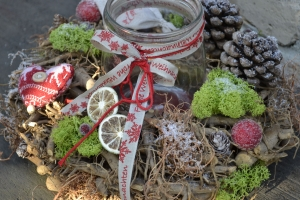 Verkauft-Moneria-Adventskranz-Adventsdekoration-Merry Christmas