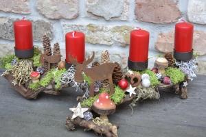 Adventskranz-Adventsgesteck-Rebholz-Wurzel-Rebwurzel-Wurzelgesteck...Waldwanderung-1-