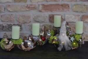 Adventskranz-Wurzelgesteck-leuchtet auch ohne angezündete Kerze-ach wie gut das niemand weiss...-1-