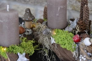 Adventskranz-Wurzelgesteck-leuchtet auch ohne angezündete Kerze-Bergweihnacht-