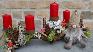 Adventskranz-Adventsgesteck-Rebholz-ach wie gut...-8- - Handarbeit kaufen