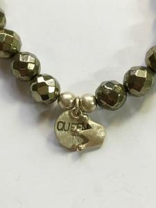 Armband Pyrit mit Silberanhänger Krone Goldschmiedearbeit