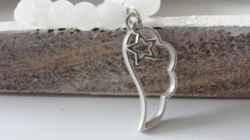 Wunderschönes Flügel Stern Armband handgefertigt matte Jadeperlen Geschenk Frauen Erinnerung Trostspender - Handarbeit kaufen