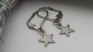 Schöne Sterne Ohrringe aus Edelstahl Geschenk Frauen Freundin Mama Trostspender Erinnerung - Handarbeit kaufen