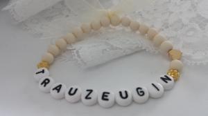 Schlichtes Trauzeugin Armband handgefertigt Hochzeit Geschenk für Deine Trauzeugin als schönes Erinnerungsgeschenk und Dankeschön Hochzeitsgäste - Handarbeit kaufen