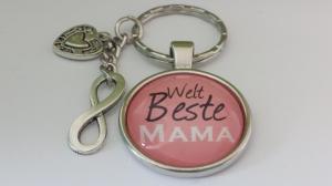 Beste Mama Schlüsselanhänger unendliche Liebe handgefertigt Geschenk für liebste Mutter Geburtstag Danke Muttertagsgeschenk - Handarbeit kaufen