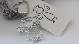 Allerliebster Schutzengel Schlüsselanhänger als Glücksbringer zur Einschulung, Führerschein, Neues Auto und anderen Anlässen