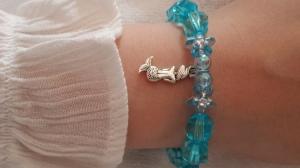 Niedliches Meerjungfrauen Mermaid Wassernixe Kinderarmband handgefertigt Geschenk für Mädchen Schwimmstufe Schule Zeugnis - Handarbeit kaufen
