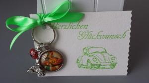 Glücksbringer Neues Auto Schlüsselanhänger Führerschein Gute Fahrt Marienkäfer schönes Geschenk für Frauen und Männer - Handarbeit kaufen