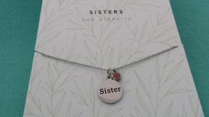 Kette Schwester Sister Edelstahl Geschenk zum Dankesagen zur Erinnerung mit Schmuckkarte - Handarbeit kaufen
