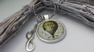 Glücksbringer Heißluftballon Schlüsselanhänger handgefertigt mit Infinity Anhänger Geschenk für Fahrt im Luftschiff tolles Geschenk - Handarbeit kaufen