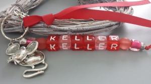 Maus Keller Schlüsselanhänger handgefertigt Buchstabenperlen mit Metallanhänger Maus Hausschlüssel Einzugsgeschenk Haus Wohnung Frauen - Handarbeit kaufen