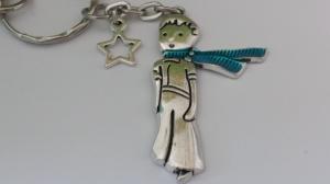Kleiner Junge mit Stern Schlüsselanhänger Märchen Prinz mit Sternenanhänger Geschenk Frauen Erinnerung Sternenkind Trauer Trostspender - Handarbeit kaufen