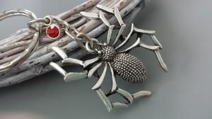 Große Spinne Schlüsselanhänger mit Strass Geschenk Frauen Freundin Gothic Halloween - Handarbeit kaufen