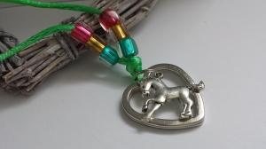 Niedliches Schlüsselband Pferd für Schlüsselkinder handgefertigt mit Pferd Herzschlüsselring Geschenk MädchenSchule Einschulung Kindergeburtstag - Handarbeit kaufen