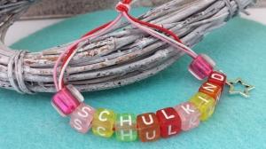 Einschulungsgeschenk Buchstabenarmband Schulkind Stern Glücksbringer zum 1.Schultag Geschenk Schulanfang ABC-Schütze - Handarbeit kaufen