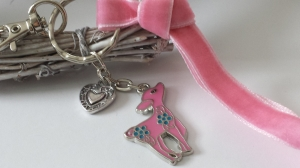 Niedliches kleines Reh Rehkitz Schlüsselanhänger Geschenk Frauen Freundin Mädchen Schulanfang Trachtenaccessoire - Handarbeit kaufen