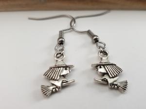 Hexen Ohrringe Ohrhänger handgefertigt Geschenk für Frauen Freundin Mädchen Halloween Fasching - Handarbeit kaufen