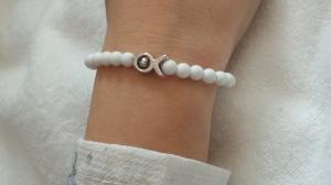 Fisch Armband handgefertigt Acrylperlen Geschenk Mädchen Frauen Kommunion Konfirmation Glaube Religion - Handarbeit kaufen