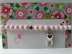 Zahnfee Armband Geschenk von der Zahnfee handgefertigt mit Stern und Zahn Anhänger Geschenkset Junge Mädchen Zahn verloren - Handarbeit kaufen