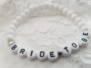 Bride to be Armband handgefertigt bald Braut Hochzeit Geschenk Frauen Freundin Junggesellinnenabschied - Handarbeit kaufen