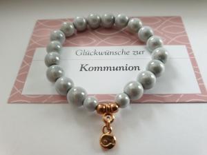 Schönes Fisch Armband handgefertigt Geschenk Kommunion Konfirmation Religion für Mädchen Frauen  - Handarbeit kaufen