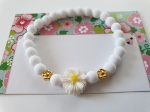 Gänseblümchen Armband handgefertigt Geschenk Hochzeit für Blumenmädchen Brautjungfer Frauen - Handarbeit kaufen