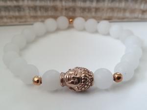 Buddha Armband Jade handgefertigt Geschenk Frauen Freundin Yoga Om Achtsamkeit Meditation - Handarbeit kaufen