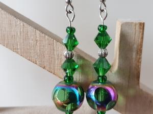 Ohrhänger Glasperlen grün handgefertigt Geschenk für Frauen Freundin Mama Muttertagsgeschenk - Handarbeit kaufen