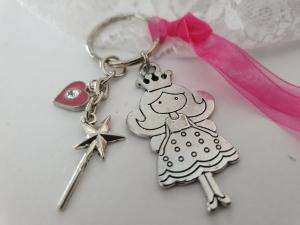 Prinzessin mit Zauberstab Schlüsselanhänger handgefertigt Geschenk Mädchen Frauen Freundin Tochter Enkelin - Handarbeit kaufen