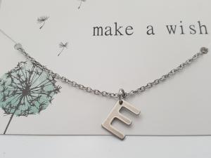 Initialen Kette Buchstaben Letter Geschenk Frauen Freundin Mama Weihnachten Jahrestag Geburtstag - Handarbeit kaufen