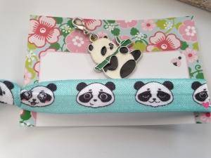 Pandabär Haargummi Charms Geschenkset Mädchen Frauen Geburtstag kleines Ostergeschenk - Handarbeit kaufen
