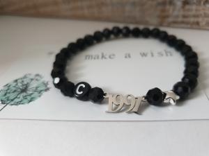 Jahr 1991 Buchstaben Armband personalisierbar handgefertigt Geschenk 30.Geburtstag Jahrestag Hochzeitstag Frauen Freundin - Handarbeit kaufen