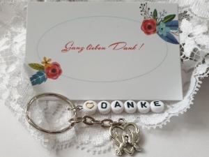 Gastgeschenk Hochzeit Danke mit Tauben Paar Herz Charms Vögel kleines Geschenk zur Hochzeit mit Karte Gastgeschenk Familie Freunde Verliebte Brautpaar  - Handarbeit kaufen