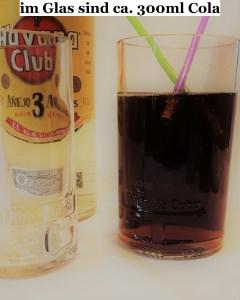 Longdrink-Glas, Mehrzweckglas aus Havanna Club Flasche