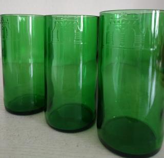 Longdrink-Glas-Set aus Bierflaschen gefertigt